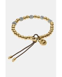 MICHAEL Michael Kors | Metallic Michael Kors Bead Crystal Stretch Bracelet | Lyst