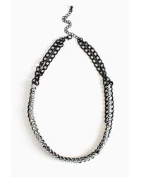 Nasty Gal - Black Crystal Cosmos Necklace - Lyst