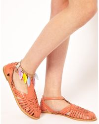 River Island - Purple Feather Anklet - Lyst