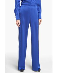 St. John | Blue Collection Kate Liquid Satin Pants | Lyst