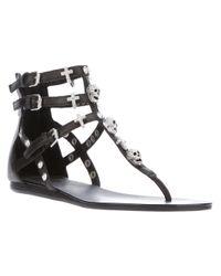 Ash Black Odyssee Embellished Sandal
