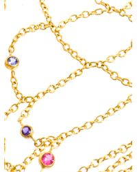 Marie-hélène De Taillac Multicolor Multicoloured Gem Stone and Gold Bracelet