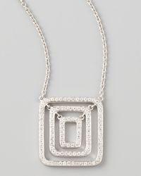 Mimi So Piece 18K White Gold Diamond Pendant Necklace