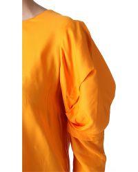 Acne Studios - Orange Ava Fluid Top - Lyst