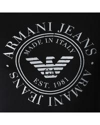 Armani Jeans Black Circle Logo Tshirt for men
