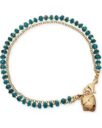 Astley Clarke | Metallic Little Parcel Apatite Friendship Bracelet | Lyst