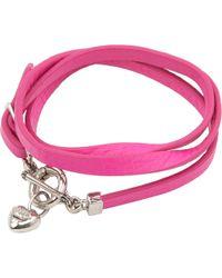 Juicy Couture - Pink Triple Wrap Bracelet - Lyst