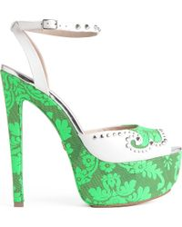 KG by Kurt Geiger | Green Jessie Platform Sandals | Lyst