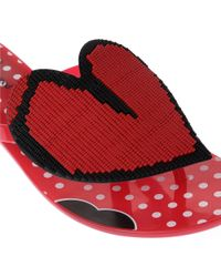 Melissa + Vivienne Westwood Anglomania Red Harmonic Heart Flip Flops
