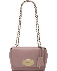 Mulberry Pink Lily Glossy Goat Leather Shoulder Bag