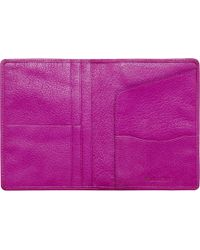 Mulberry Pink Leather Passport Wallet