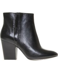 Nine West Black Darsy Leather Ankle Boots