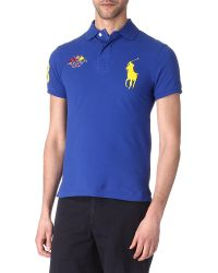 Ralph Lauren | Blue Slim Fit Yacht Club Polo Shirt for Men | Lyst