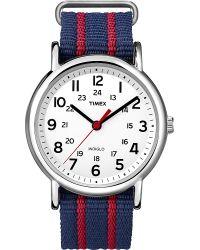 Timex | Metallic Weekender Slip Thru Watch for Men | Lyst