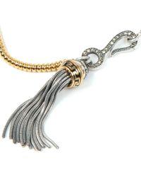 Vivienne Westwood Metallic Arcadia Tassel Necklace
