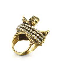 Alcozer & J - Metallic Brass Cherub Ring - Lyst