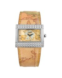 Alviero Martini 1A Classe | Brown 1A Prima Classe - Ladies' Geo Rectangular Dial And Strap Watch | Lyst