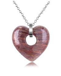 Antica Murrina - Purple Heartbeat Murano Glass Heart Necklace - Lyst