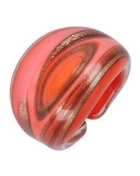Antica Murrina - Red Laguna Coral Gold Murano Glass Ring - Lyst