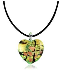 Antica Murrina | Metallic Passione - Murano Glass Heart Pendant | Lyst