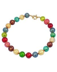 Antica Murrina | Giada Multicolor Murano Glass Bead Necklace | Lyst