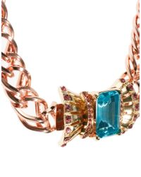 ASOS Pink Bow Front Clasp Necklace