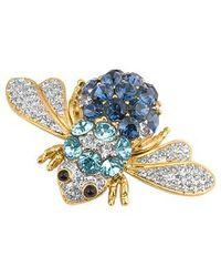 AZ Collection - Metallic Beetle Brooch - Lyst