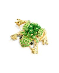 AZ Collection | Green Frog Brooch | Lyst