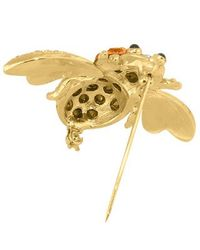 AZ Collection - Yellow Beetle Brooch - Lyst
