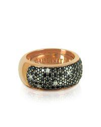 Azhar | Metallic Black Cubic Zirconia Silver Vermeil Ring | Lyst