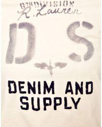 Denim & Supply Ralph Lauren Natural Stencil Logo Tee
