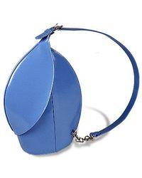 Fontanelli Blue Ladybug Polished Italian Leather Handbag
