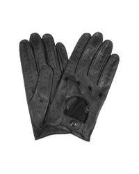 FORZIERI | Men's Black Italian Leather Driving Gloves for Men | Lyst