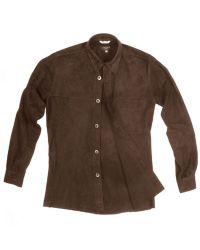 FORZIERI Mens Brown Italian Suede Leather Shirtjacket for men