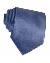 FORZIERI Shimmering Dark Blue Textured Silk Tie for men