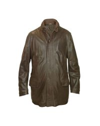 FORZIERI - Men's Dark Brown Leather Car Coat for Men - Lyst