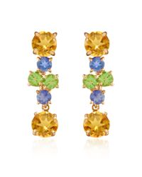 FORZIERI - Metallic Amethyst And Citrine Flower 18k Gold Earrings - Lyst