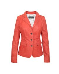 FORZIERI | Three-button Red Leather Jacket | Lyst