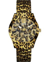 Guess Multicolor Fierce Crystal Embellished Leopard Watch