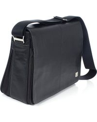 Knomo Black Bungo 15 Laptop Messenger Bag for men