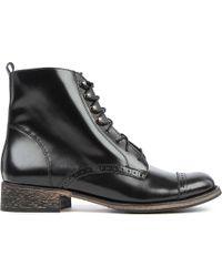 Maje Black Babette Laceup Boots