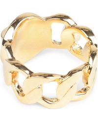 Marc By Marc Jacobs | Metallic Katie Turnlock Large Ring | Lyst
