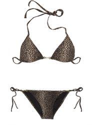 Melissa Odabash - Black Maine Cheetah-print Triangle Bikini - Lyst