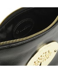 Mulberry Black Daria Glossy Leather Pouch