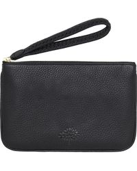 Mulberry Black Effie Spongy Leather Pouch