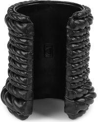 Natalia Brilli | Black Bond Wide Leather Cuff | Lyst