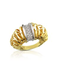 Orlando Orlandini - Metallic Galaxy - Diamond 18k Gold Ring - Lyst