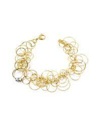 Orlando Orlandini | Scintille - Diamond 18k Yellow Gold Bracelet | Lyst