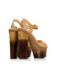 Rachel Zoe Pink Evelyn - Leather Platform Sandal