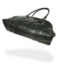 Robe Di Firenze Black Leather Bowler Bag